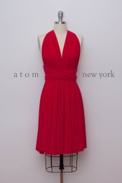 Red bridesmaid dress - www.etsy.com/shop/AtomAttire