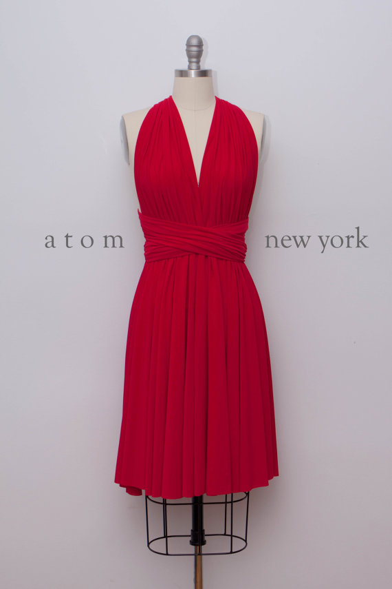 red bridesmaid dress � wwwetsycomshopatomattire the
