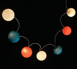 Teal and orange lights - www.etsy.com/shop/LivingPastel