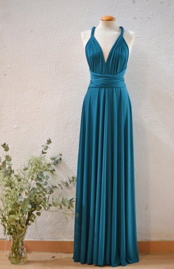 Teal infinity bridesmaid dress - www.etsy.com/shop/mimetik