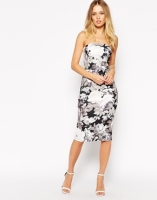 Asos bouquet placed bandeau dress - asos.com
