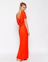 Asos cowl back crepe maxi dress - asos.com