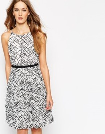 Coast Anya dress in line print - asos.com