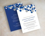 Cobalt and silver wedding invitation - www.etsy.com/shop/appleberryink