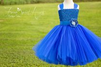 Cobalt flower girl dress - www.etsy.com/shop/FourSweetHeartsTutus