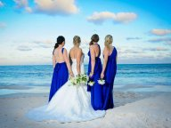 Cobalt infinity bridesmaid dresses - www.etsy.com/shop/CoralieBeatrix