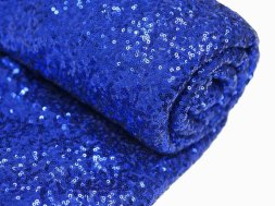 Cobalt sequinned table runner - www.etsy.com/shop/SparkleSoiree