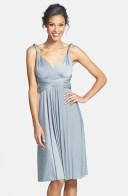 Dessy Collection silver bridesmaid dress - nordstrom.com