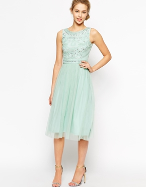 Frock and Frill embellished top midi dress - asos.com