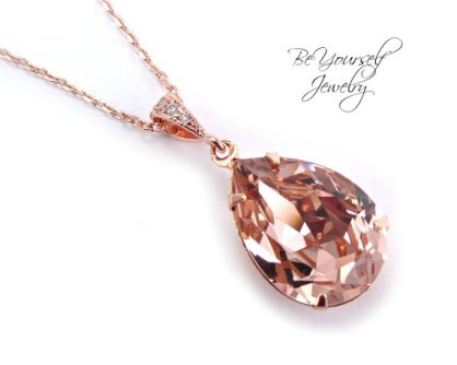 Rose-gold necklace - www.etsy.com/shop/BeYourselfJewelry