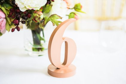 Rose-gold table numbers - www.etsy.com/shop/ZCreateDesign