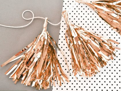 Rose-gold tassel decor - www.etsy.com/shop/ModParty