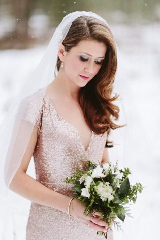 Rose-gold wedding dress - www.etsy.com/shop/GibsonBespoke