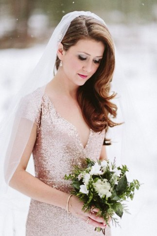 Rose-gold wedding dress - www.etsy.com/shop/GibsonBespoke