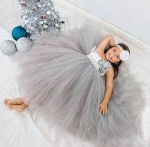 Silver flower girl dress - www.etsy.com/shop/PrincessLondonsTutus