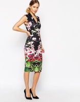 Ted Baker midi dress is mirrored tropical print - asos.com