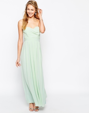 TFNC maxi dress in pleated chiffon - asos.com