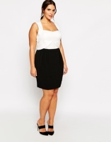 Truly You sweetheart neckline pencil dress - asos.com