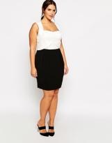 Truly You sweetheart neckline pencil dress - asos.com