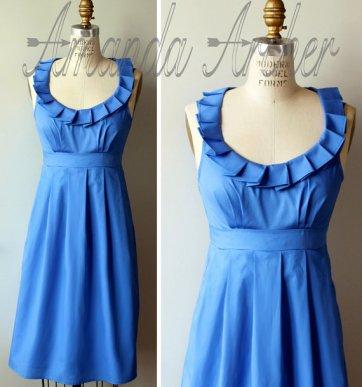 Cornflower-blue bridesmaid dress - www.etsy.com/shop/AmandaArcher