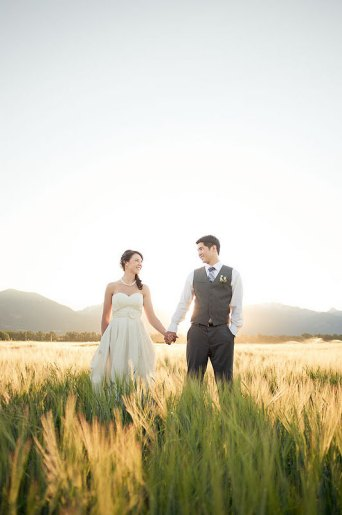 Rustic the merry bride for Organic cotton wedding dress