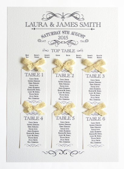Rustic seating chart - www.etsy.com/shop/STNstationery