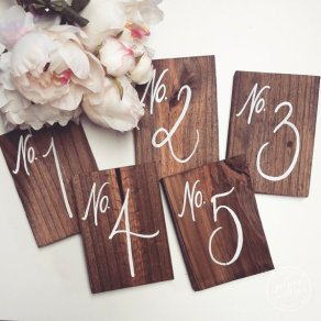 Rustic table numbers - www.etsy.com/shop/ThePaperWalrus