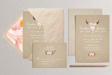 Rustic wedding invitation - www.etsy.com/shop/plpapers