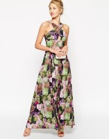 ASOS Floral Print Cross Front Maxi Dress, from asos.com