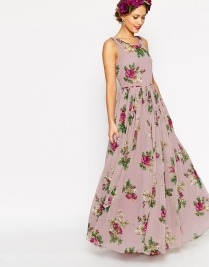 ASOS PETITE WEDDING Super Full Maxi Dress in Floral Print, from asos.com