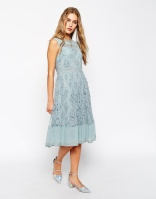 ASOS Premium Midi Dress in Lace, from asos.com