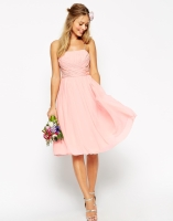 ASOS WEDDING Midi Dress With Ruched Wrap Front, from asos.com