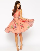 ASOS WEDDING Prom Dress In Rose And Forget Me Not Print, from asos.com