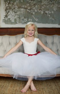 Ballerina-style flower girl dress - www.etsy.com/shop/gillygray