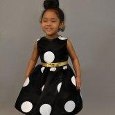 Black and white polka dot flower girl dress - www.etsy.com/shop/PantoraBridal