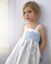 Blue and white flower girl dress - www.etsy.com/shop/sneakypea