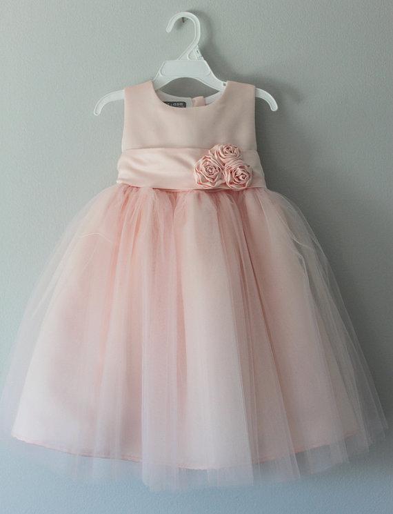 Blush flower girl dress for Best etsy wedding dress shops