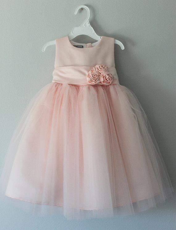 Blush Flower Girl Dress Www Etsy Com Shop Saskiadankbaar
