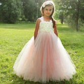 Blush pink flower girl dress - www.etsy.com/shop/TrendyBambiniCouture