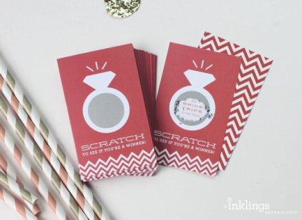 Bridal shower or bachelorette party scratch cards - www.etsy.com/shop/InklingsPaperie