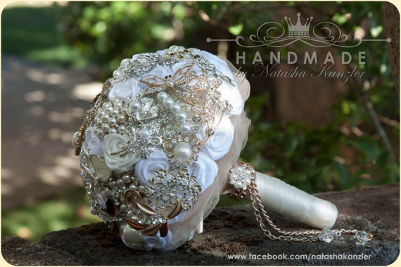 Wedding Brooch Bouquet Nz : Brooch bouquet etsy oceanideas the merry