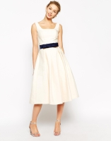 Chi Chi London Debutant Prom Skater Dress With Contrast Belt, from asos.com