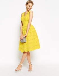 Chi Chi London Scallop Lace Full Midi Dress, from asos.com