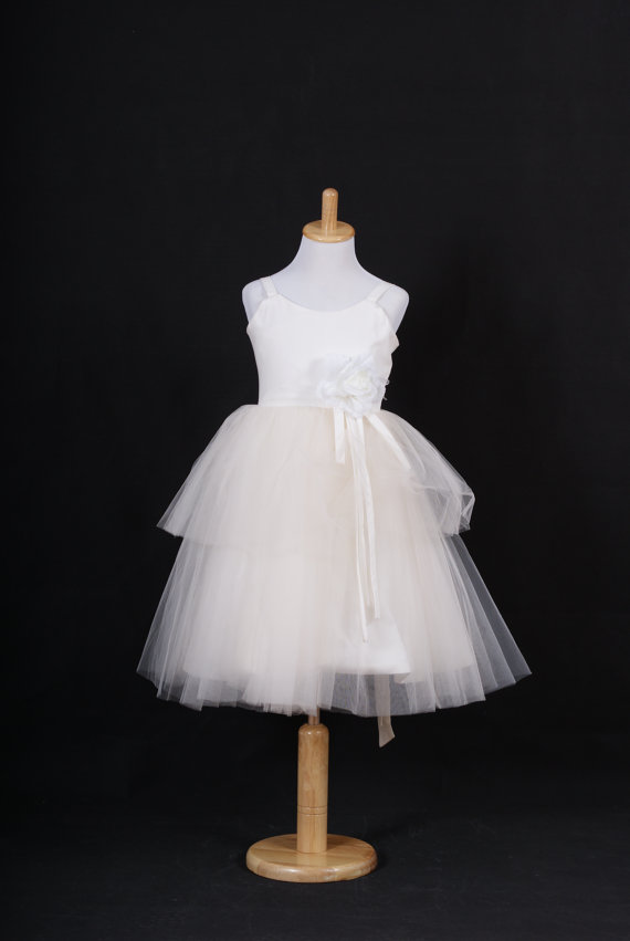 Cotton and tulle flower girl dress – www.etsy.com/shop ...