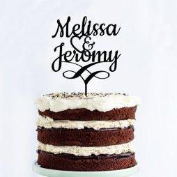 Customised cake topper - www.etsy.com/shop/LAVISHLASER