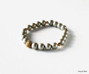 Gold and grey bracelet - www.etsy.com/shop/RingofWire