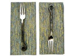 Grey and gold fabric napkins - www.etsy.com/shop/feastdesign