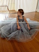 Grey flower girl dress - www.etsy.com/shop/OliviaKateCouture