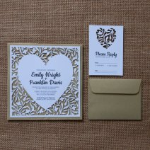 Laser-cut heart wedding invitation and response card - www.etsy.com/shop/LAVISHLASER