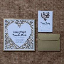 Laser-cut heart wedding invitation and response card - www.etsy.com/shop/LAVISHLASER